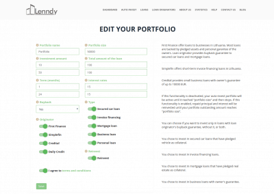 Portfolio automatico Lenndy